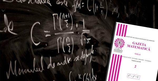 Gazeta Matematica nr. 3 seria B/2018